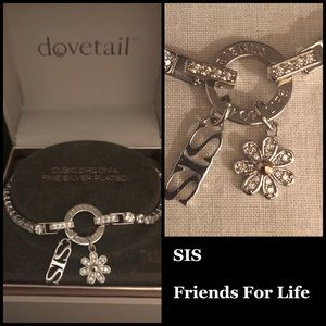 "🆕 Dovetail Fine Silver Plated ""SIS"" Bracelet"